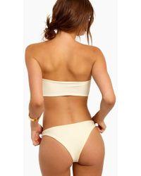 S.I.E SWIM - Alex High Cut Bikini Bottom - Ivory - Lyst