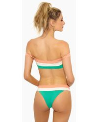 L*Space - Veronica Blocked Thick Band Bikini Bottom - Spearmint Colour Block - Lyst