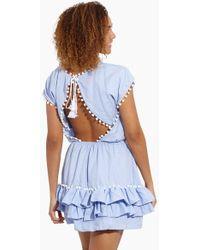 Peixoto - Nessi Pom Pom Dress - Sky Blue - Lyst