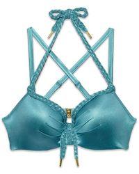 Marlies Dekkers - Holi Glamour Wired Padded Big Bust Bikini Top - Aqua Blue - Lyst