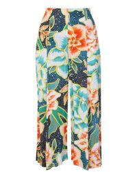 Mara Hoffman - Easy Cropped Culotte Trousers - Arcadia Indigo - Lyst