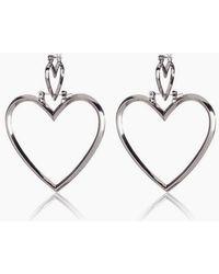 Luv Aj - Heartbreaker Dangle Hoop Earrings (set Of 4) - Silver - Lyst
