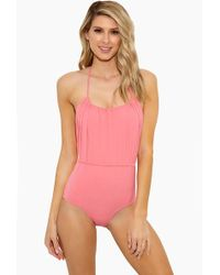 Lisa Marie Fernandez - Charlotte Drawstring One Piece Swimsuit - Bubblegum Pink - Lyst