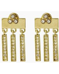 Luv Aj - The Moroccan Dangle Stud Drop Earrings - Gold - Lyst