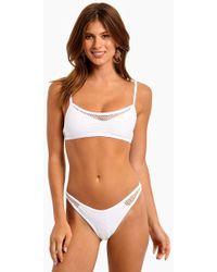 L*Space - Naomi Mesh Bralette Bikini Top - White - Lyst