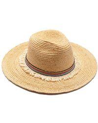 Hat Attack - Raffia Braid Continental Straw Sun Hat - Natural - Lyst