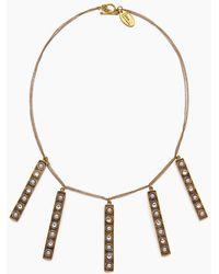 Lena Bernard - Stella Pearl & Crystal Stick Charms Gold Necklace - Lyst