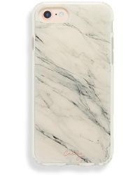 Casery - White Marble Iphone 6/7/8 - Lyst