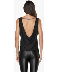 Koral - Scoop Back Open Mesh Tank Top - Black - Lyst