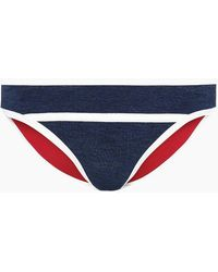 Duskii Monte Carlo Moderate Bikini Bottom - Indigo Blue/white