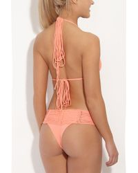 Indah - Fallen Macrame Bottom - Grapefruit - Lyst