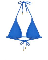 Helen Jon - Reversible String Bikini Top With Braid - Pacific Blue - Lyst