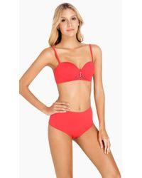 Saha - Freya Bustier Bikini Top - Flame Coral - Lyst