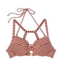 Marlies Dekkers - Holi Vintage Plunge Balcony Big Bust Bikini Top - Red Ecru - Lyst