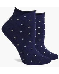 Richer Poorer - Rose Low Top Roll Socks - Navy - Lyst