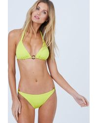 Vilebrequin - Facile Triangle Tie Bikini Top - Chartreuse - Lyst