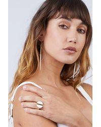 Soko Split Moon Ring - White