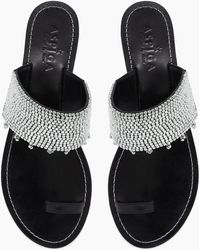 Aspiga Luna Sandals - Black & Silver
