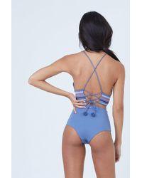 Dolce Vita - Kokomo High Waisted Bikini Bottom - Pigeon - Lyst