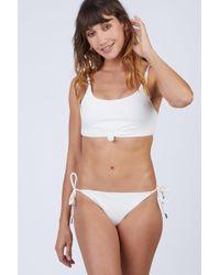 Rosa Cha - Canel Front Tie Bikini Top - Ivory - Lyst