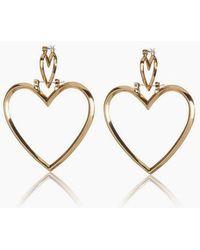 Luv Aj - Heartbreaker Dangle Hoop Earrings (set Of 4) - Gold - Lyst