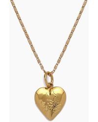 Vanessa Mooney - The Locket Necklace - Gold - Lyst