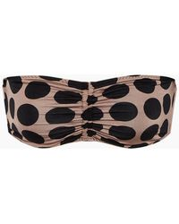 Stella McCartney - Ruched Bandeau Bikini Top - Ballet Dots Print - Lyst