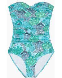 Helen Jon - Twist Bandeau One Piece Swimsuit - Dominica Print - Lyst