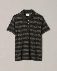 Billy Reid | Cashmere Stripe Polo | Lyst