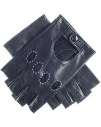 Black.co.uk - Men's Black Leather Fingerless Driving Gloves - Lyst