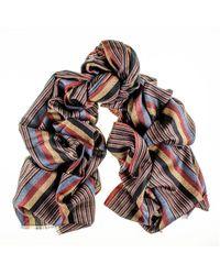 Black.co.uk - Montpelier Merino Wool And Silk Scarf - Lyst
