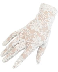 Black.co.uk - Short Ivory Fine Lace Gloves - Lyst
