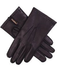 Black.co.uk - Men's Cashmere Lined Leather Gloves - Lyst