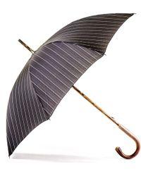 Black.co.uk Black And White Pin Stripe Luxury Umbrella