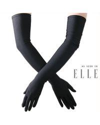 Black.co.uk - Long Black Satin Gloves - Lyst