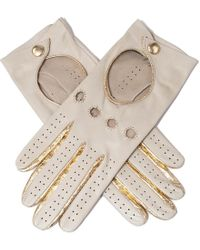Black.co.uk - Supersoft Cream And Gold Nappa Leather Driving Gloves - Lyst