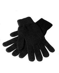 Black.co.uk - Men's Black Cashmere Gloves - Lyst