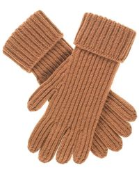 Black.co.uk - Men's Camel Rib Knit Cashmere Gloves - Lyst