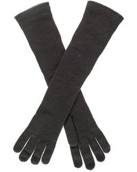 Black.co.uk - Long Black Italian Cashmere Gloves - Lyst