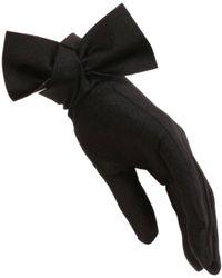 Black.co.uk - Black Bow Cocktail Gloves - Lyst