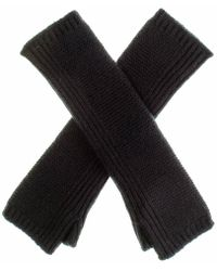 Black.co.uk - Long Black Cashmere Wrist Warmers - Lyst