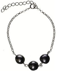 Black.co.uk - Belinda Triple Tahitian Black Pearl Bracelet - Lyst