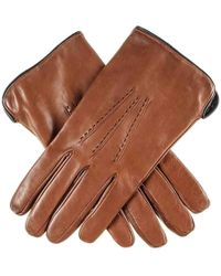 Black.co.uk - Men's Tan Brown And Black Leather Gloves - Cashmere Lined - Lyst
