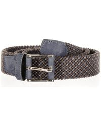Black.co.uk - Triple Tone Italian Nubuck Leather Woven Belt - Lyst