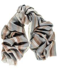 Black.co.uk - Oxford Stripe Merino Wool And Silk Scarf - Lyst