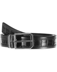 Black.co.uk - Black Italian Textured Calf Leather Belt - Lyst