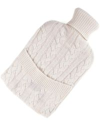 Black.co.uk - Cream Cashmere Hot Water Bottle Cover - Lyst