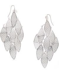 Black.co.uk - Filigree Leaf Sterling Silver Earrings - Lyst