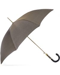 Black.co.uk - Chocolate Brown And White Houndstooth Luxury Umbrella - Lyst