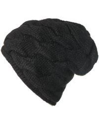 Black.co.uk - Black Cable Knit Cashmere Beanie - Lyst